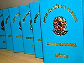 Carteirinha da Ordem dos Músicos do Brasil - Centro Musical Adorarte - Indaiatuba